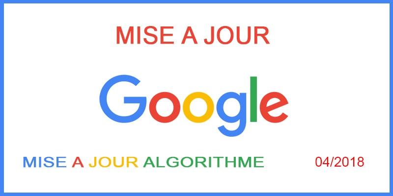 Une nouvelle mise à jour de l'algorithme par Google