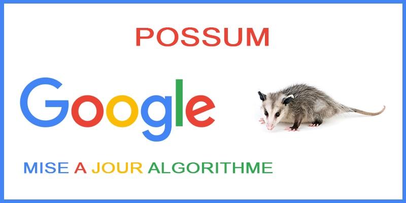 Google Possum mise a jour