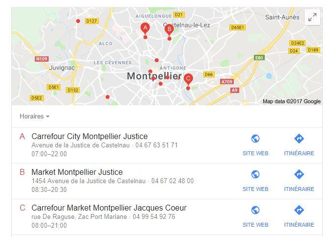 google-maps-recherche-locale