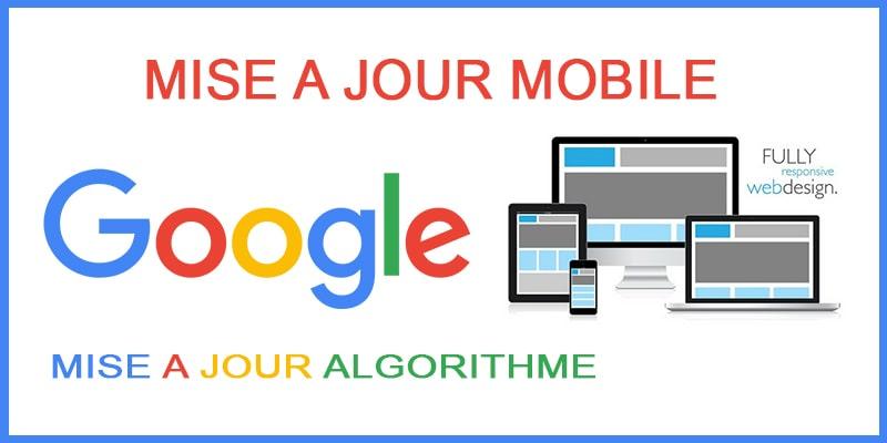Mise à jour Google appareils mobiles